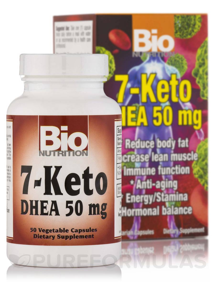 7-Keto DHEA 50 mg - 50 Vegetable Capsules