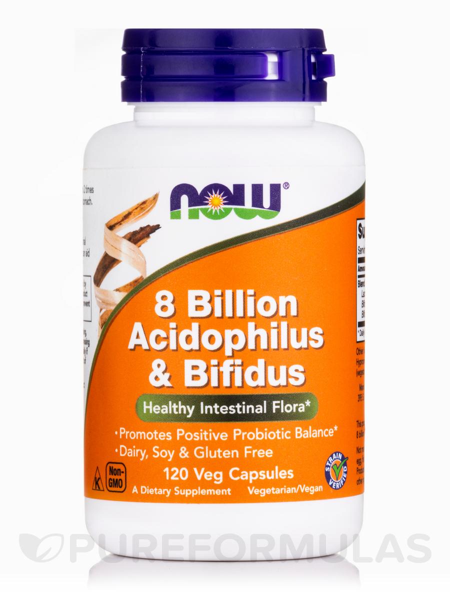 8 Billion Acidophilus & Bifidus - 120 Veg Capsules
