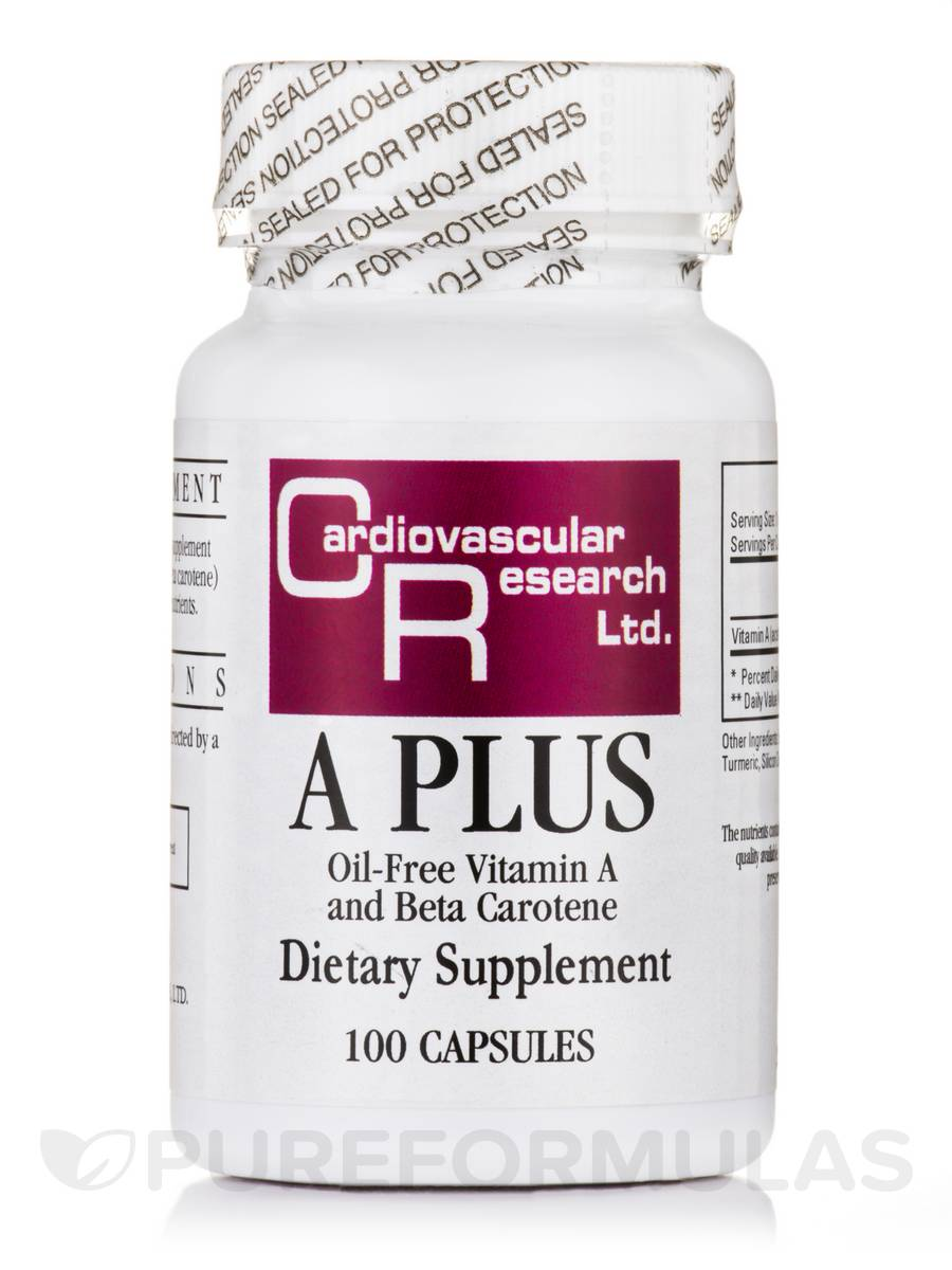 A Plus (Oil-Free Vitamin A and Beta Carotene) - 100 Capsules