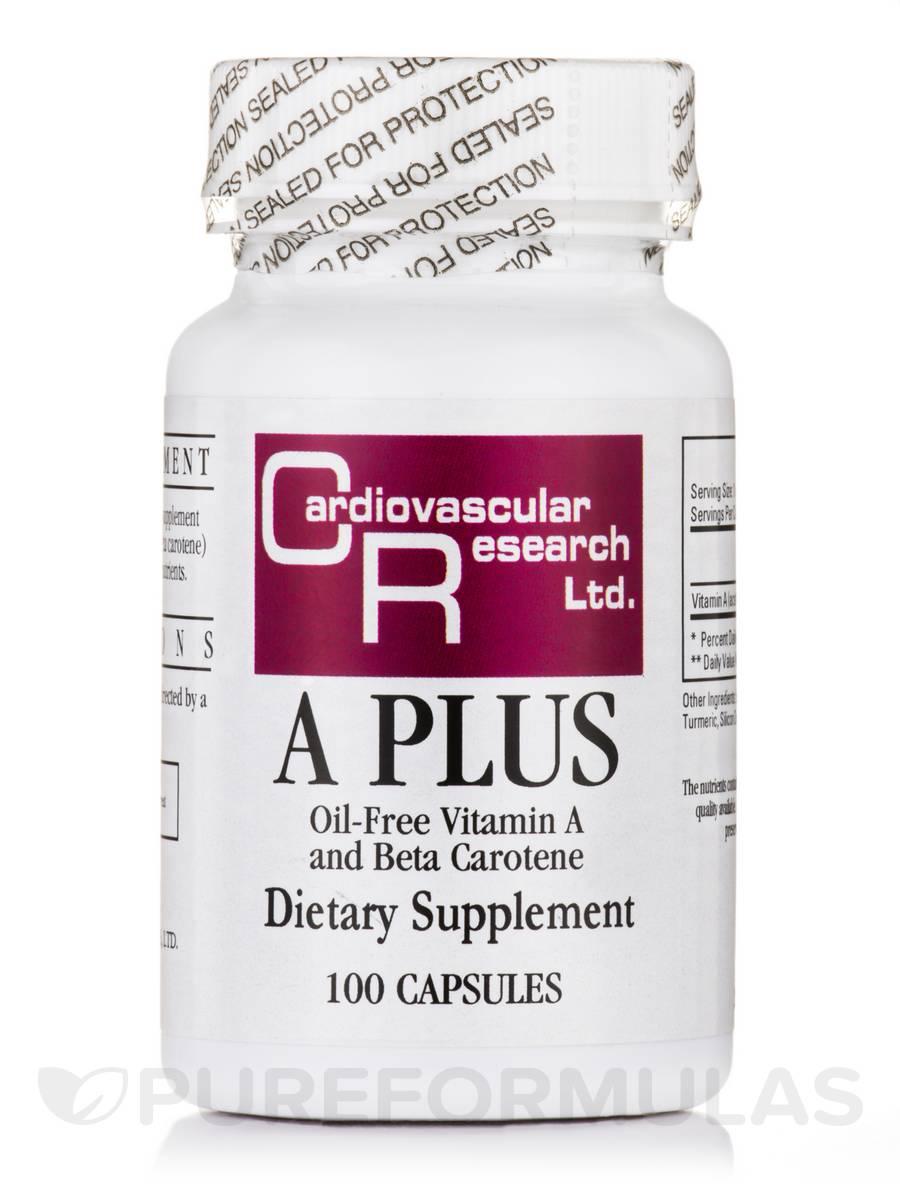 A Plus (Oil-Free Vitamin A and Beta Carotene) - 100 Capsules