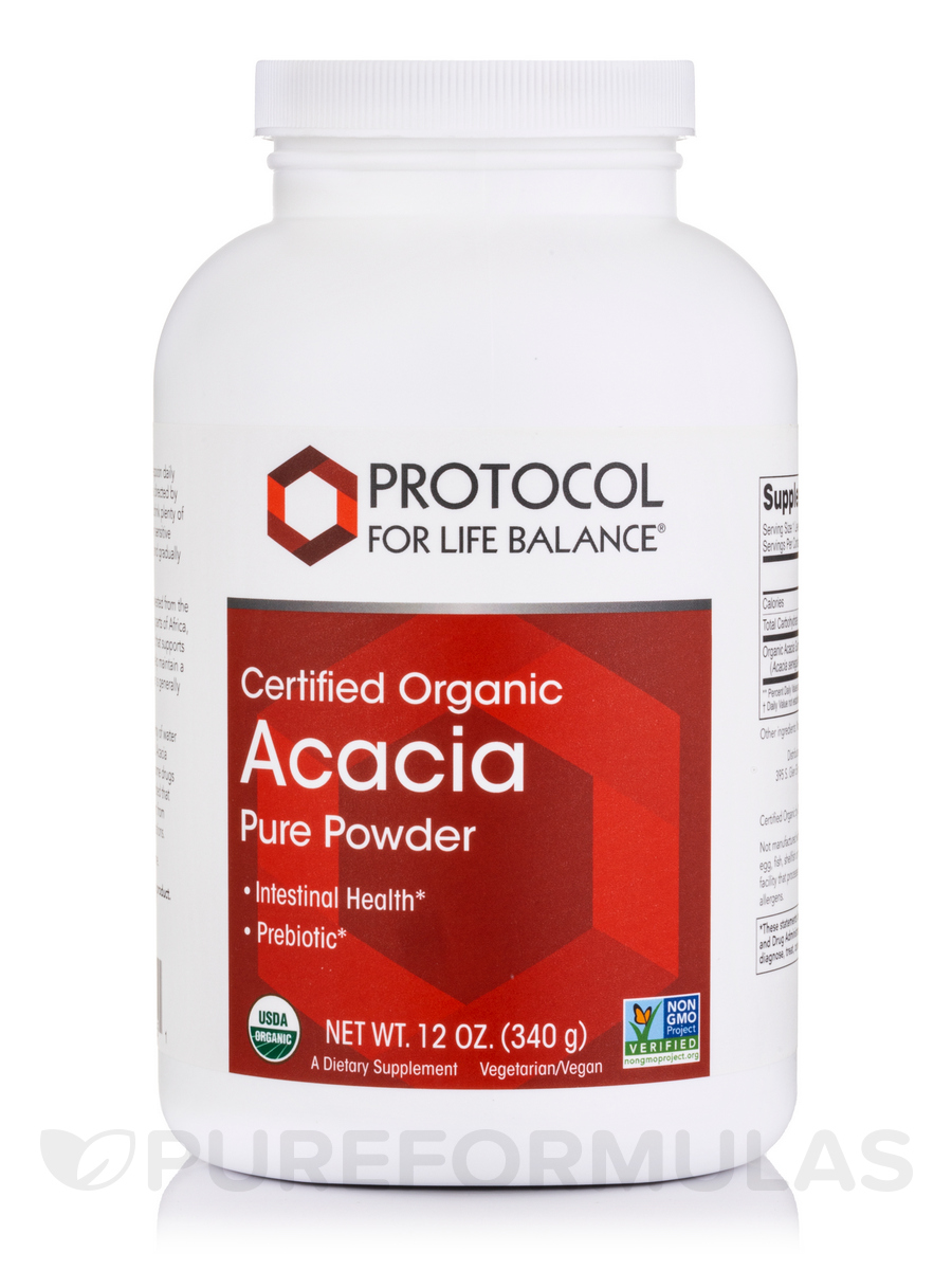 Acacia Fiber Pure Powder, Certified Organic - 12 oz (340 Grams)
