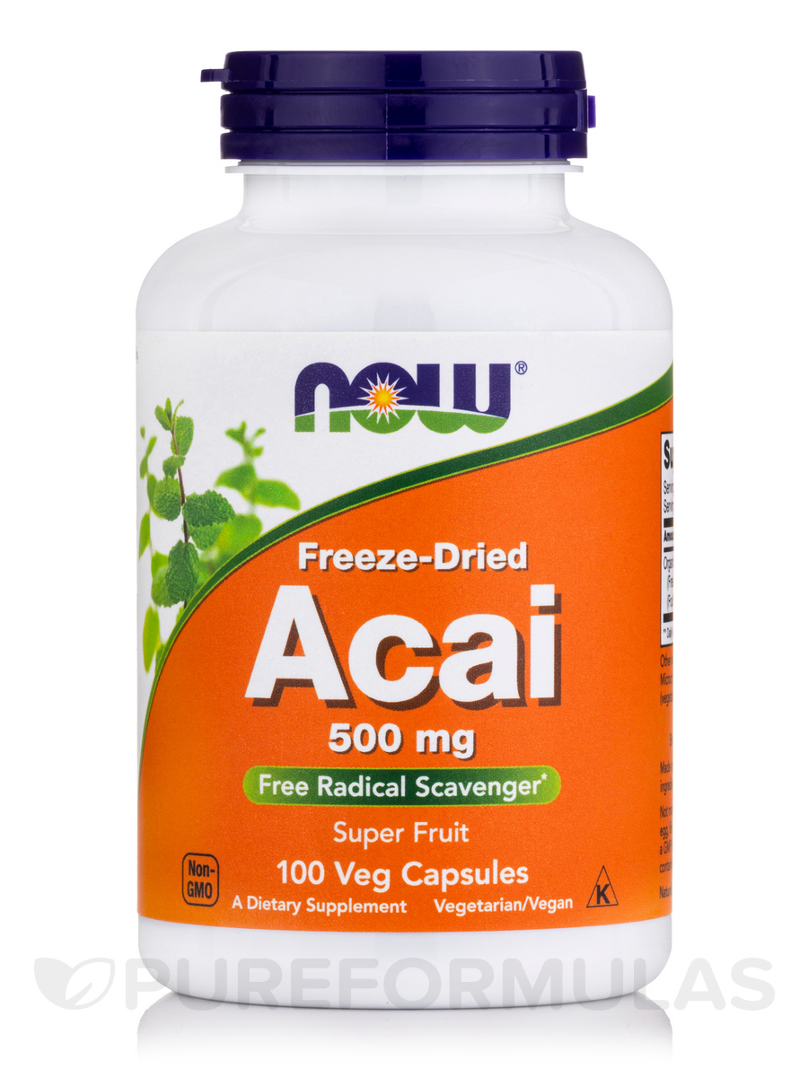 Acai (Freeze-Dried) 500 mg - 100 Veg Capsules