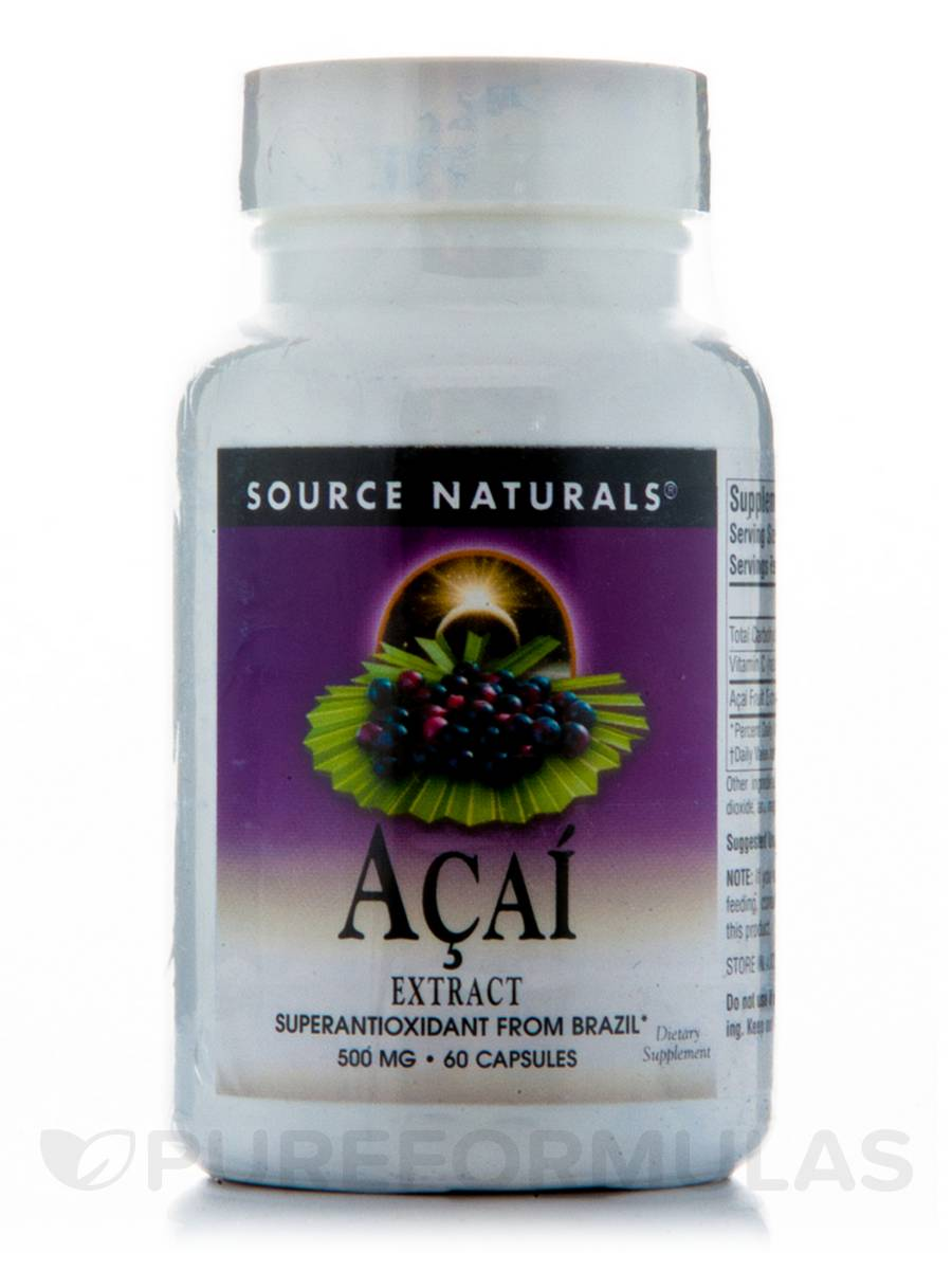 Acai Extract 500 mg - 60 Capsules