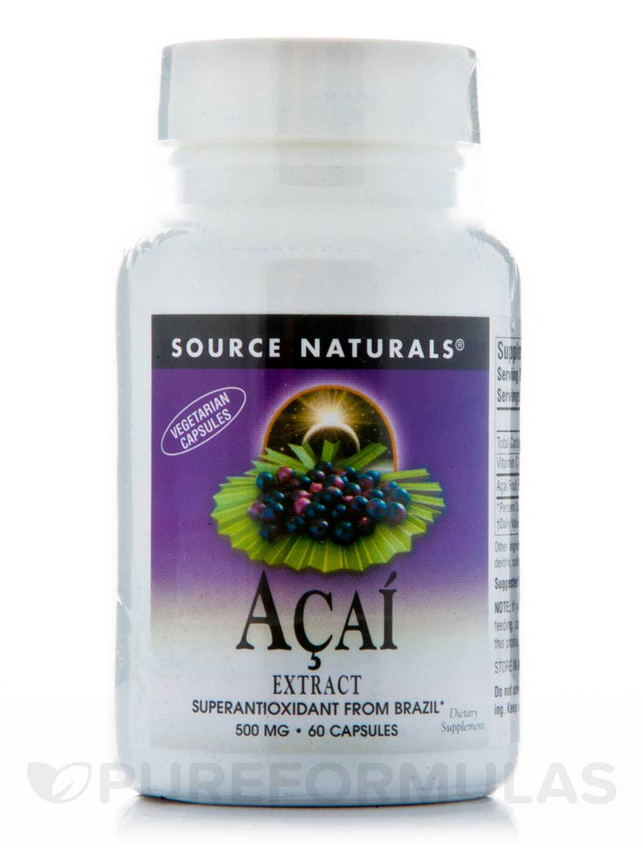 Acai Extract 500 mg - 60 Vegetarian Capsules