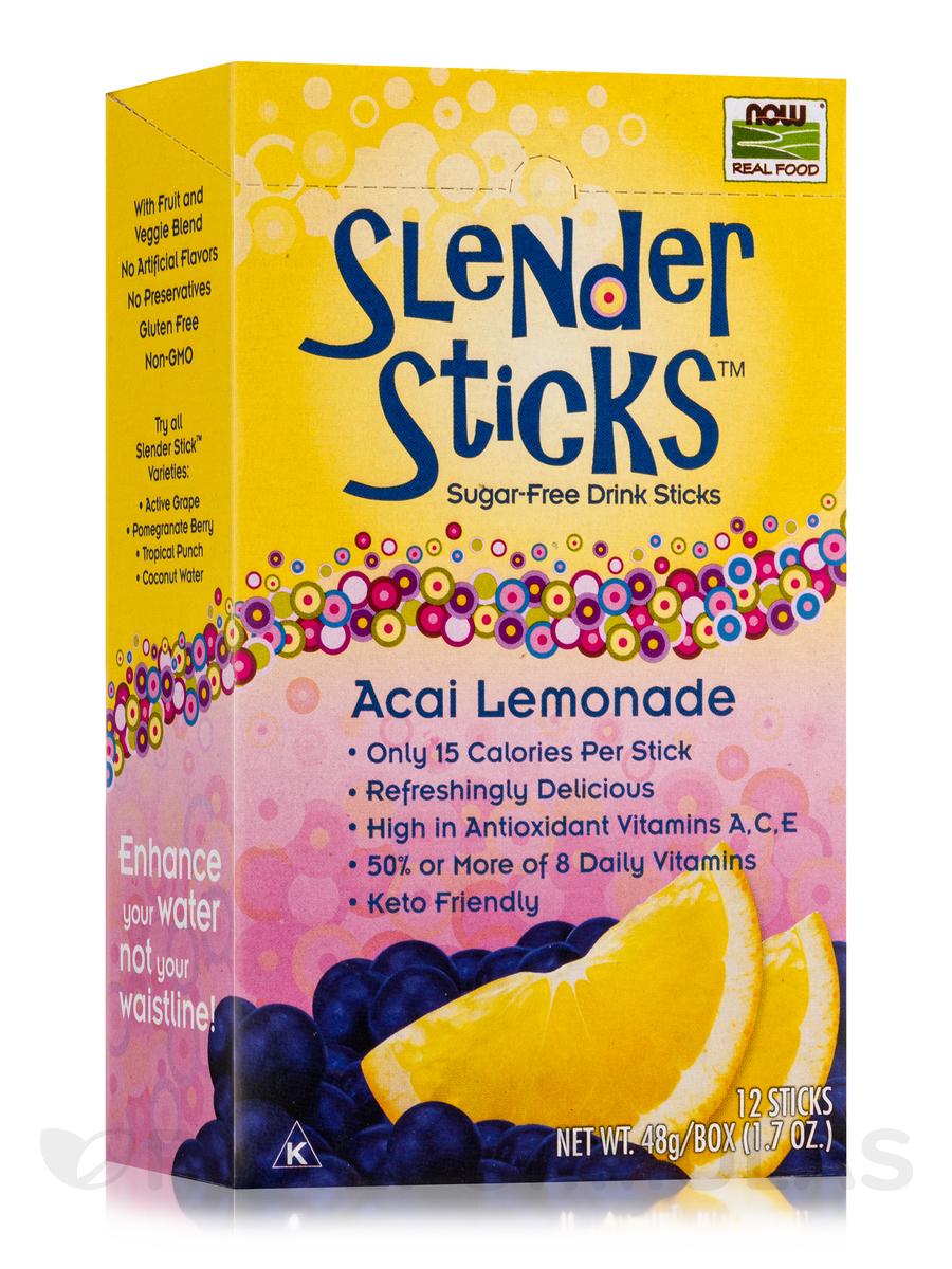 NOW Real Food® - Acai Lemonade Sugar Free Drink Sticks - Box of 12 Packets
