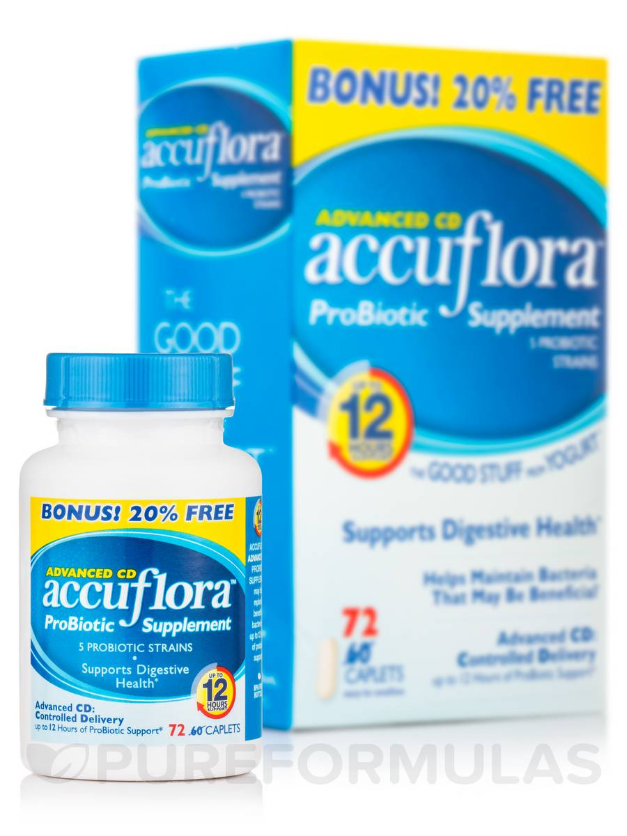 accuflora™ Probiotic Supplement - 72 Caplets