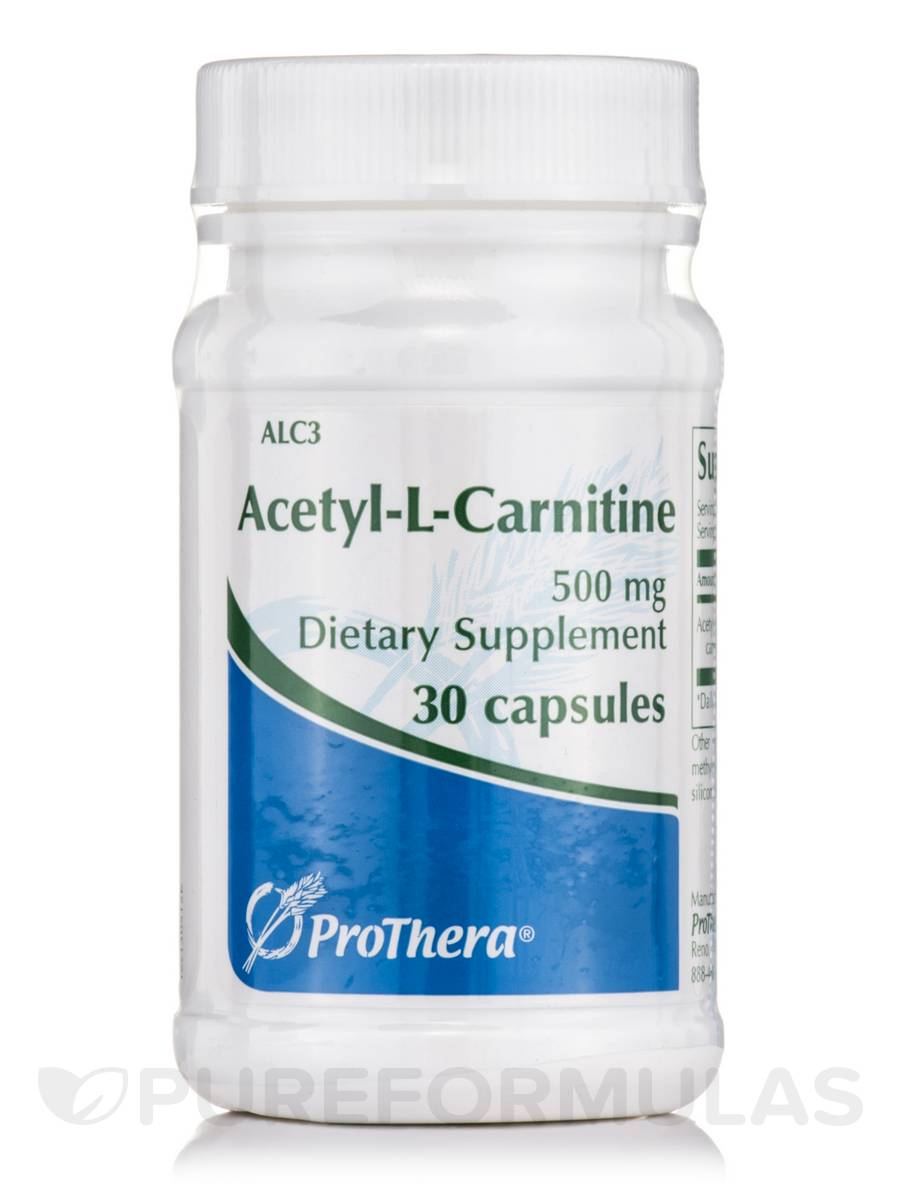 Acetyl-L-Carnitine 500 mg - 30 Capsules