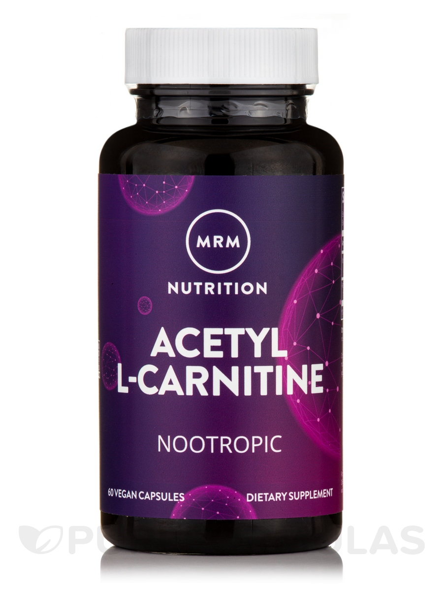 Acetyl L-Carnitine - 500 mg - 60 Vegetarian Capsules