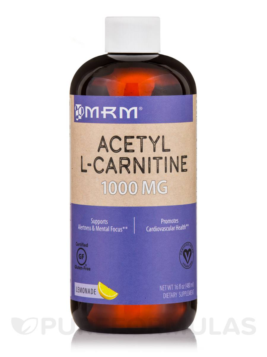 Acetyl L-Carnitine 1000 mg, Lemonade Flavor - 16 fl. oz (480 ml)