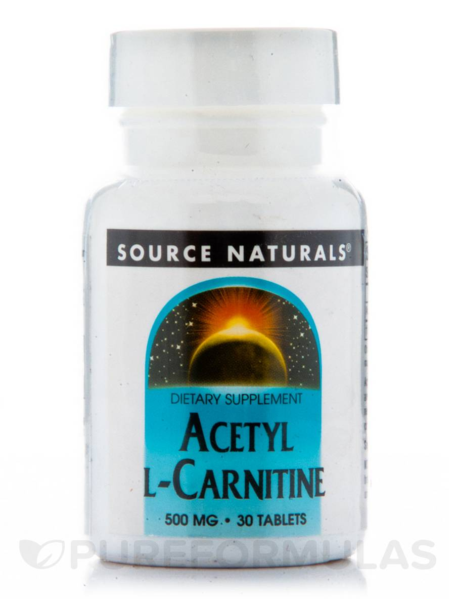 Acetyl L-Carnitine 500 mg - 30 Tablets