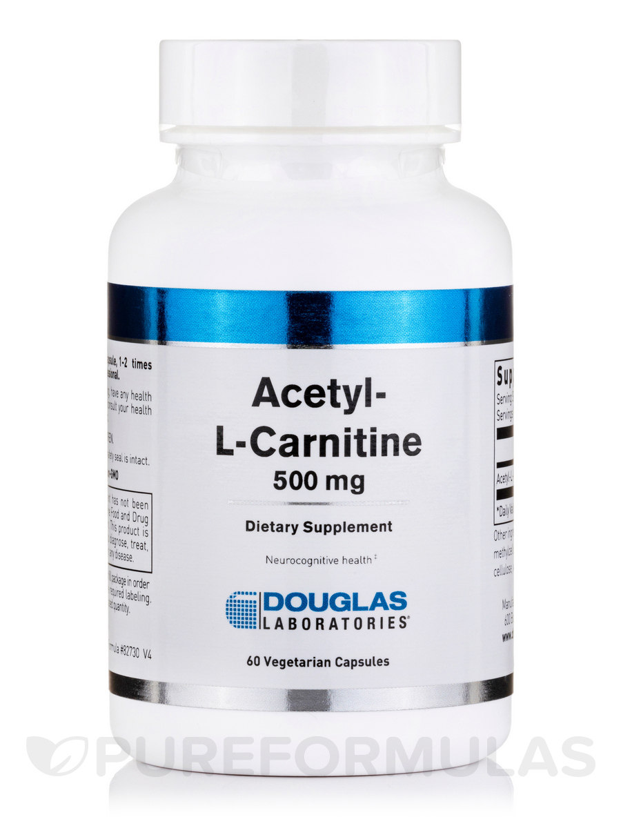 Acetyl L-Carnitine 500 mg - 60 Capsules