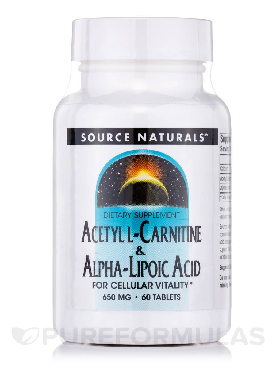 Acetyl L-Carnitine & Alpha Lipoic Acid - 60 Tablets