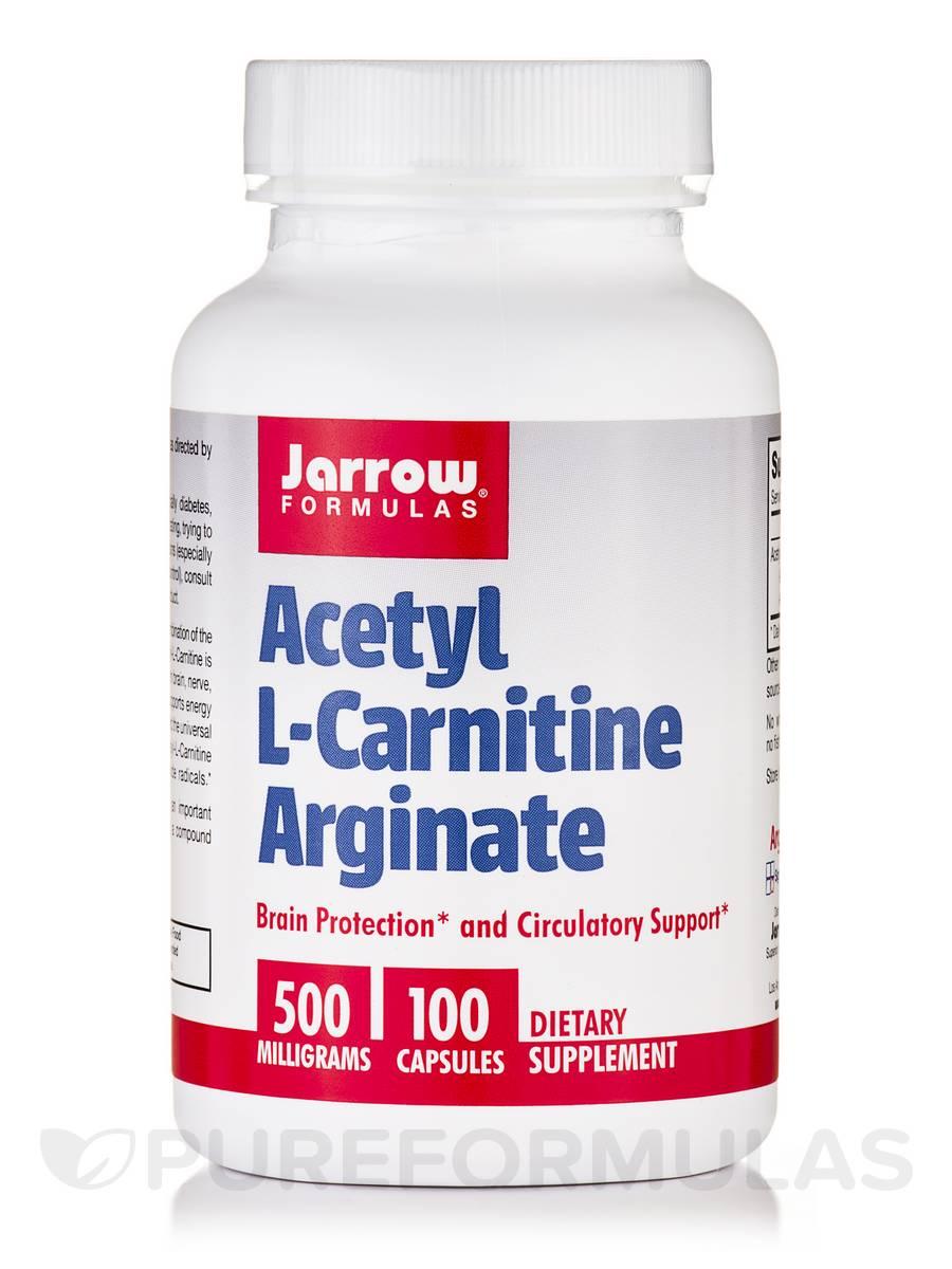 Acetyl L-Carnitine Arginate 500 mg - 100 Capsules