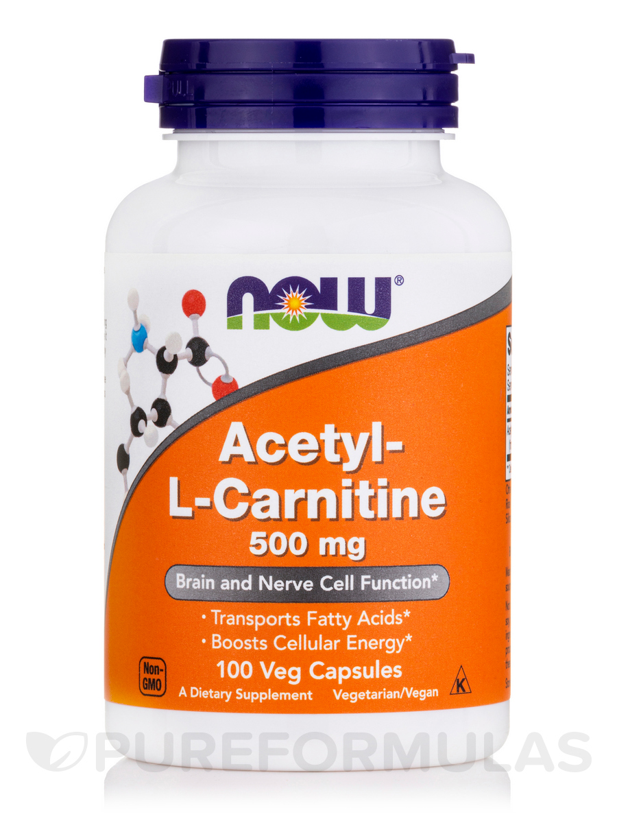 Acetyl-L Carnitine 500 mg - 100 Veg Capsules