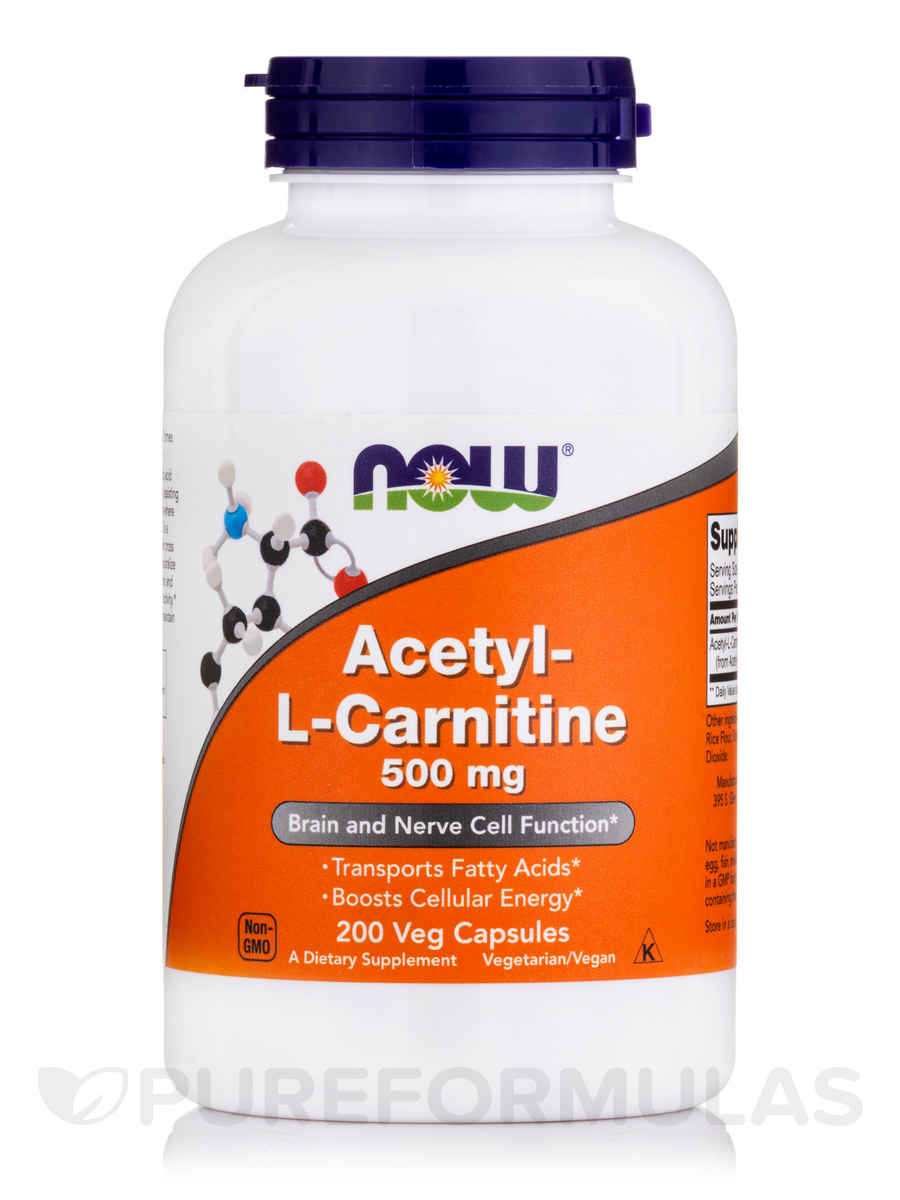 Acetyl-L Carnitine 500 mg - 200 Veg Capsules