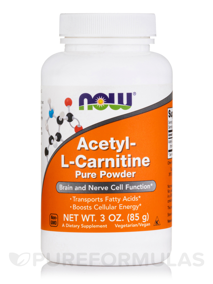 Acetyl-L Carnitine Pure Powder - 3 oz (85 Grams)