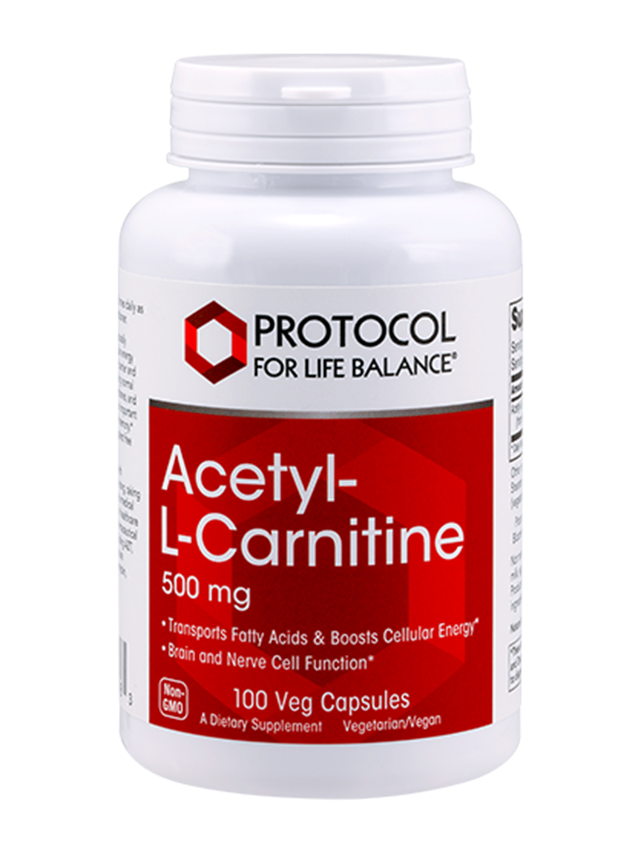Acetyl-L-Carnitine 500 mg - 100 Veg Capsules