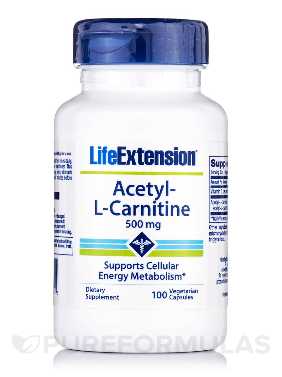 Acetyl-L-Carnitine 500 mg - 100 Vegetarian Capsules