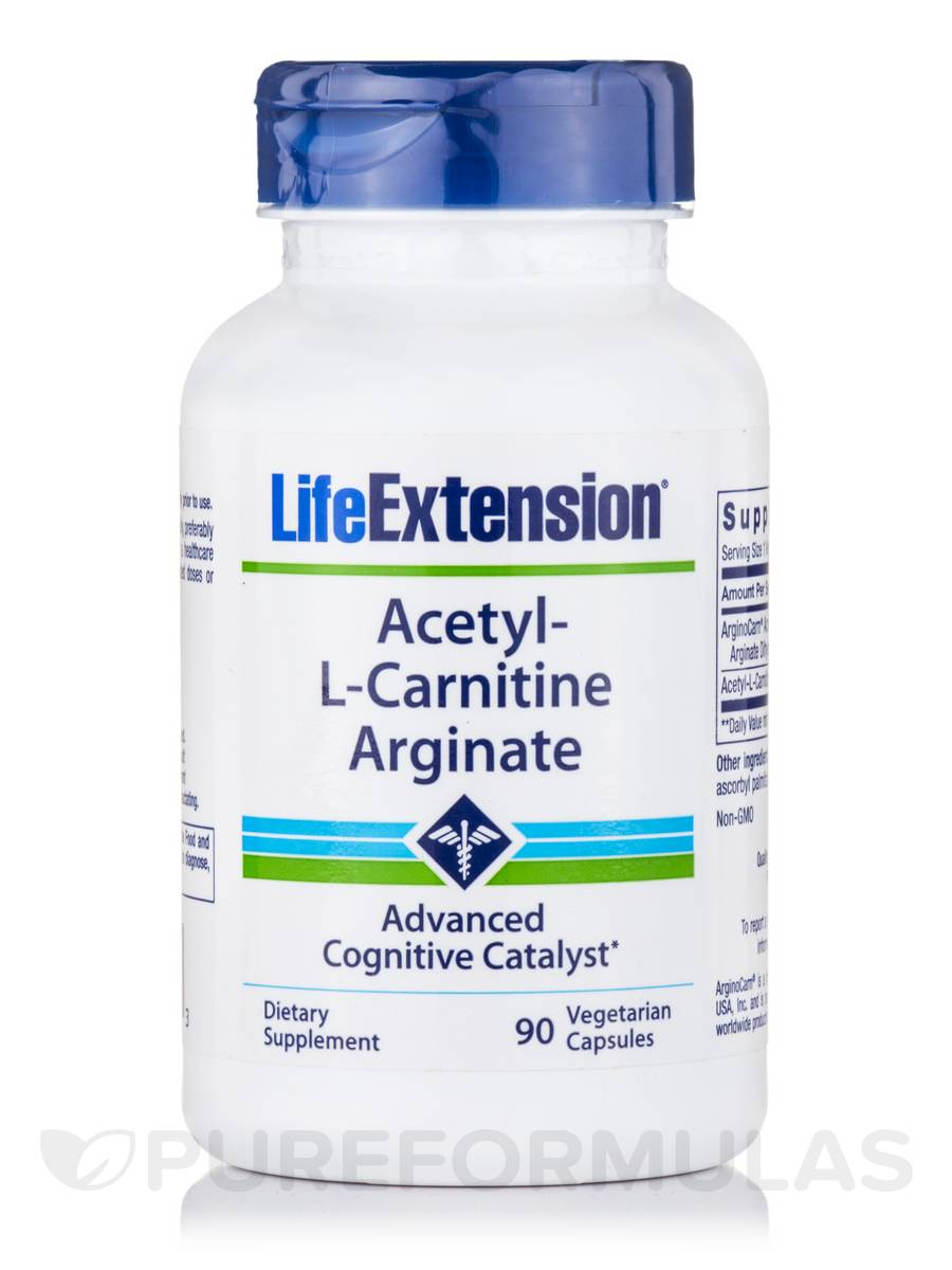Acetyl-L-Carnitine Arginate - 90 Vegetarian Capsules
