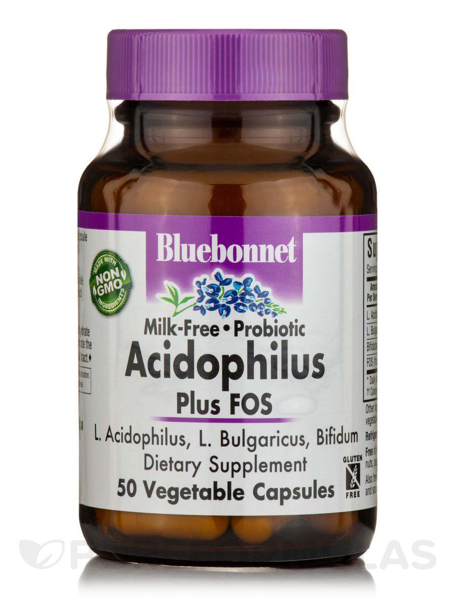 Acidophilus Plus FOS (Milk-Free) - 50 Vegetable Capsules