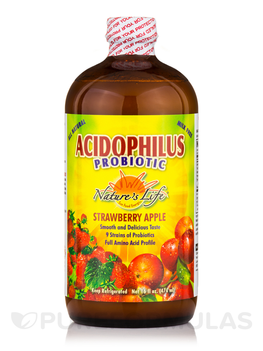Acidophilus Probiotic, Strawberry Apple - 16 fl. oz (474 ml)