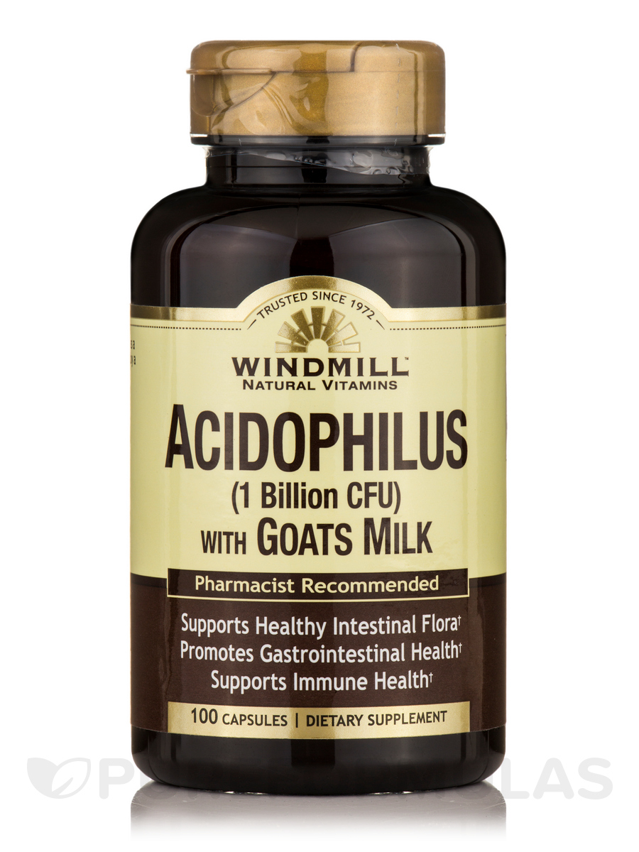 Acidophilus with Goat Milk - 100 Capsules