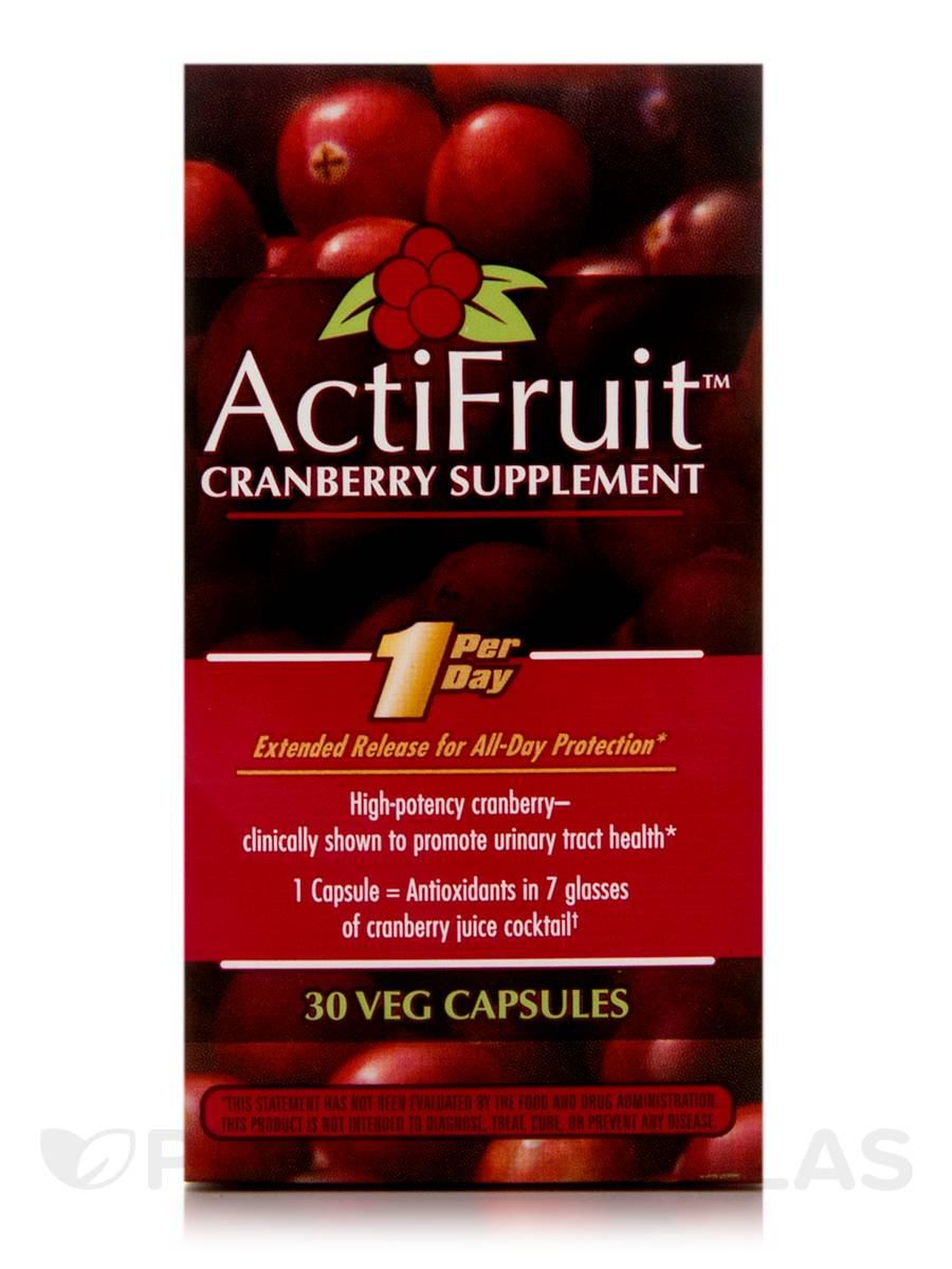 ActiFruit (Cranberry Supplement) - 30 Vegetarian Capsules