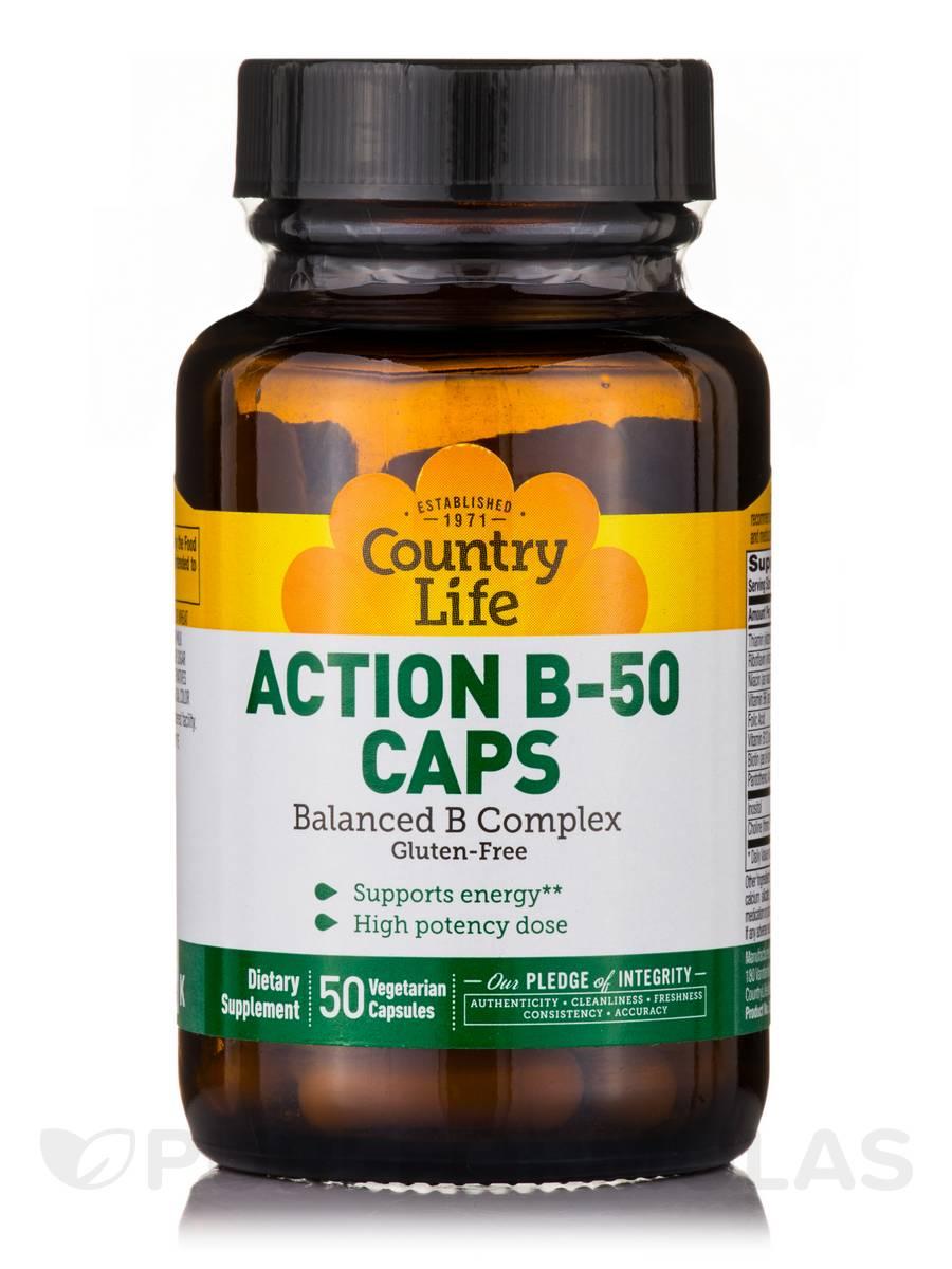 Action B-50 - 50 Vegetarian Capsules