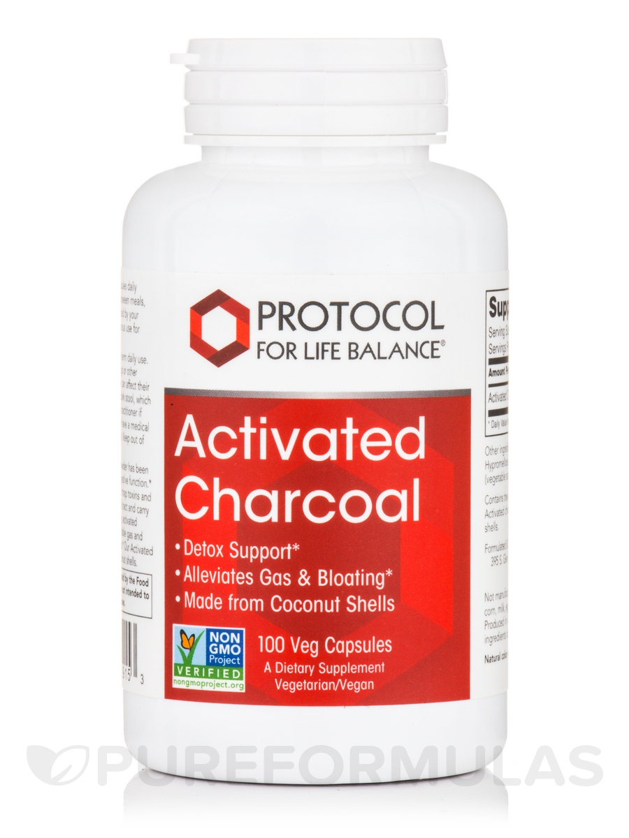 Activated Charcoal - 100 Veg Capsules