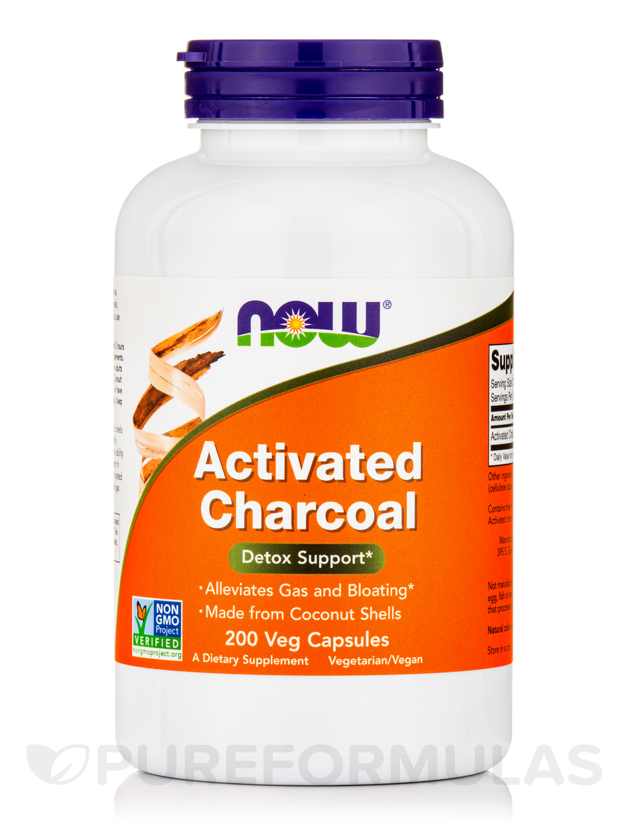 Activated Charcoal - 200 Veg Capsules