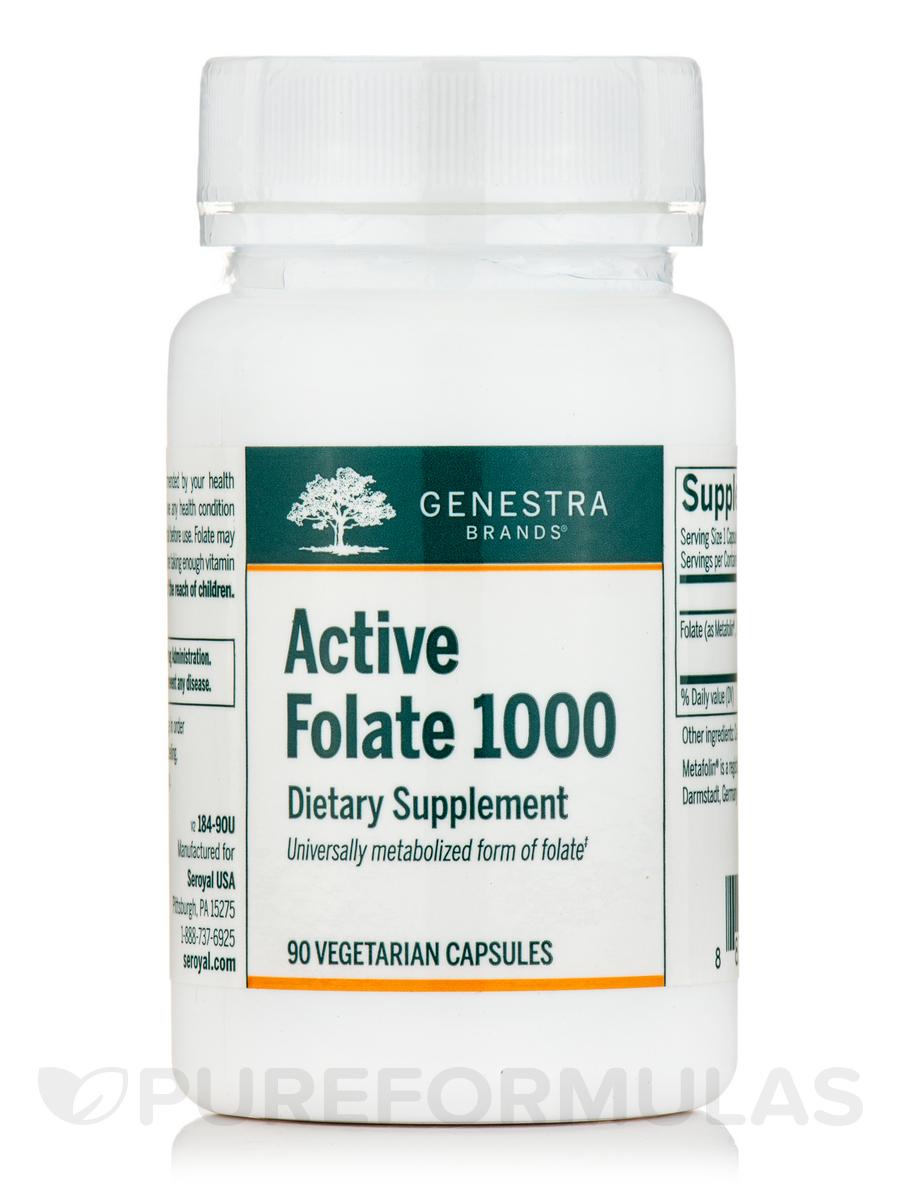 Active Folate 1000 - 90 Vegetarian Capsules