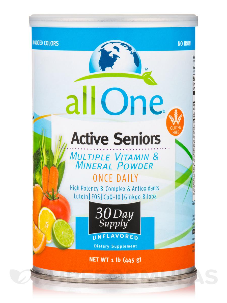 Active Seniors (Multiple Vitamin & Mineral Powder), Unflavored - 1 lb (445 Grams)
