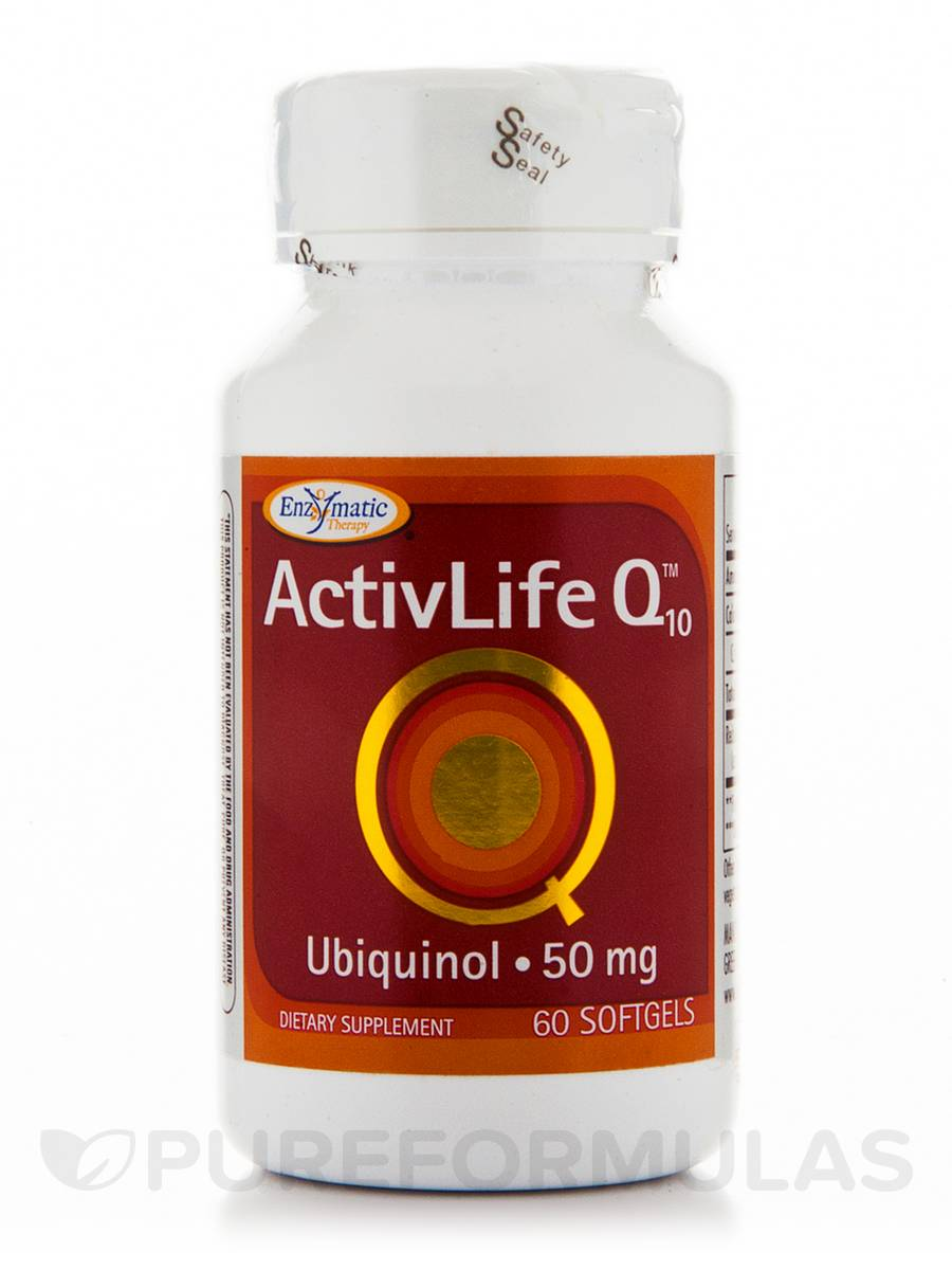 ActivLife Q10 Ubiquinol 50 mg - 60 Softgels