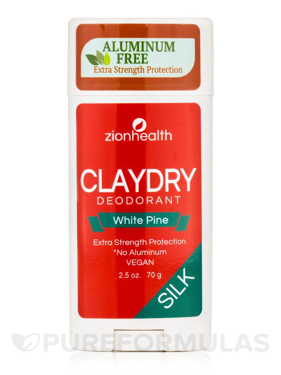 Clay Dry Silk Deodorant, White Pine - 2.5 oz (70 Grams)