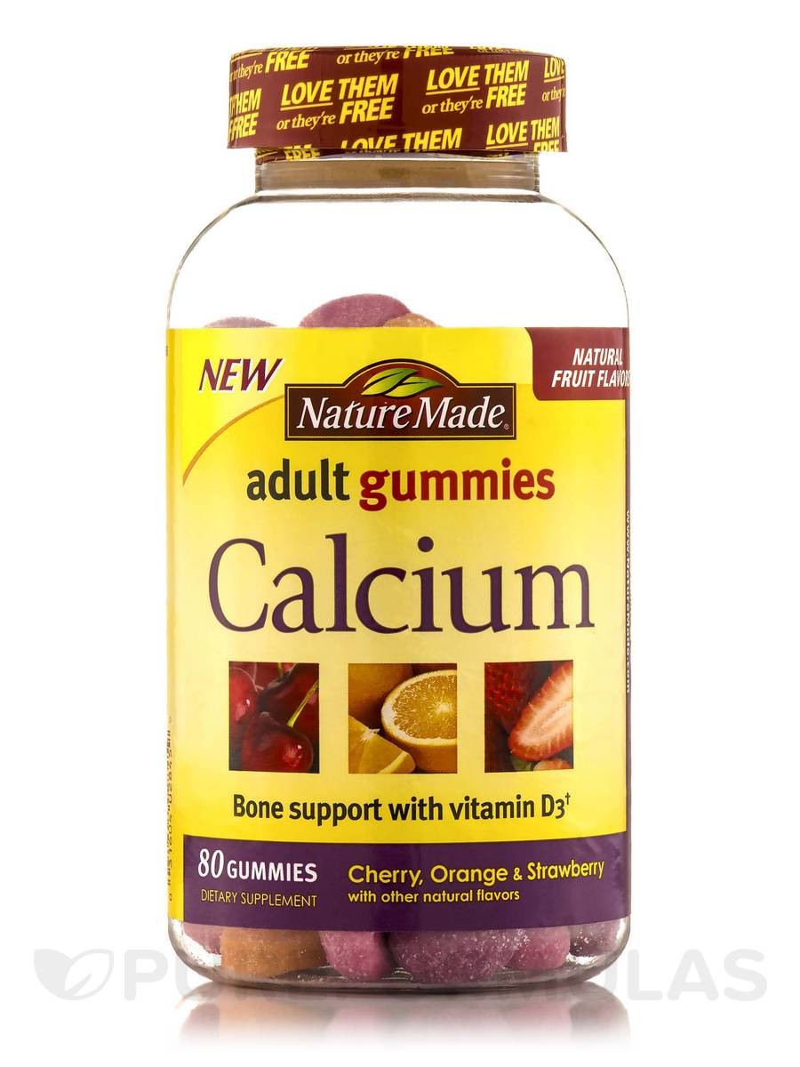 Adult Gummies Calcium with Vitamin D3 (Assorted Flavors) - 80 Gummies