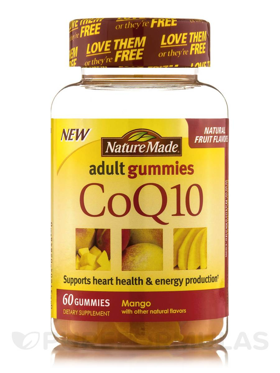 Adult Gummies CoQ10 (Mango with other natural flavors) - 60 Count