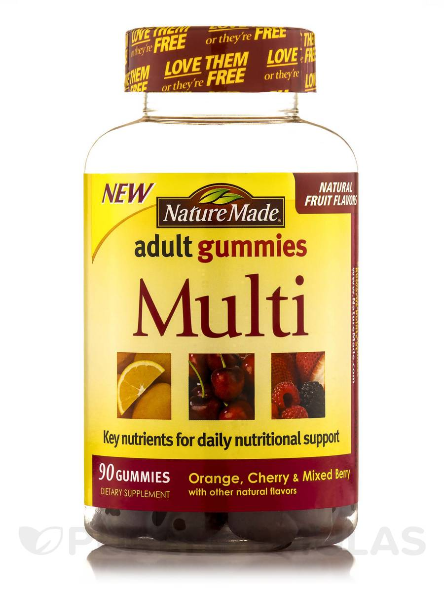 Adult Gummies Multi (Assorted Flavors) - 90 Gummies