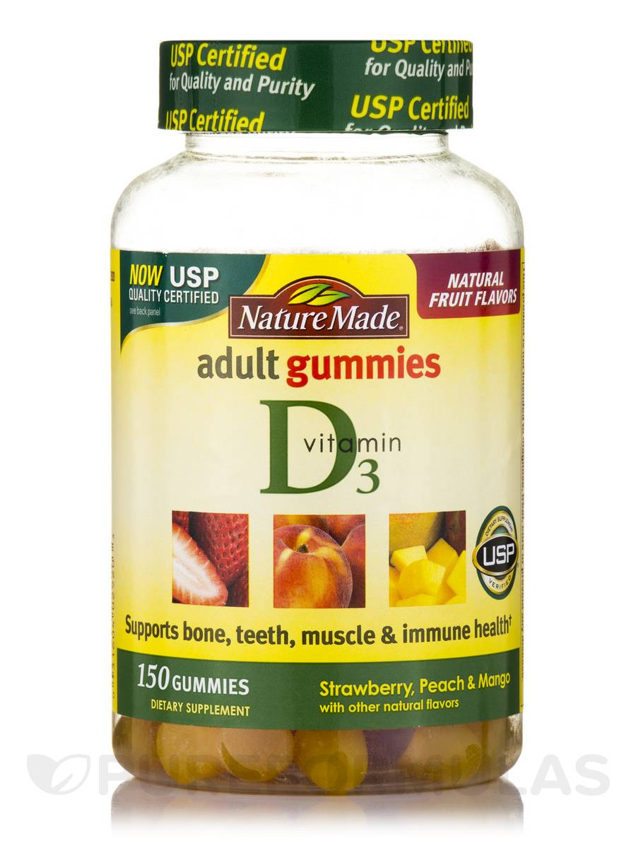 Adult Gummies Vitamin D3 (Assorted Flavors) - 150 Gummies