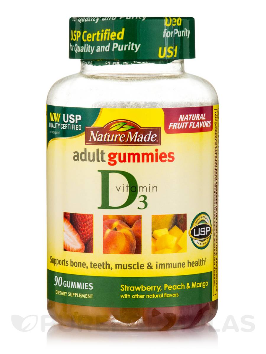 Adult Gummies Vitamin D3 (Assorted Flavors) - 90 Gummies