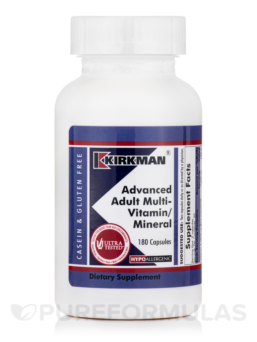 Advanced Adult Multi-Vitamin/Mineral -Hypoallergenic - 180 Capsules