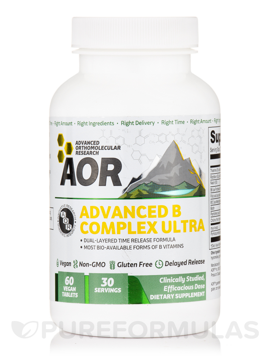 Advanced B Complex Ultra - 60 Vegan Tablets