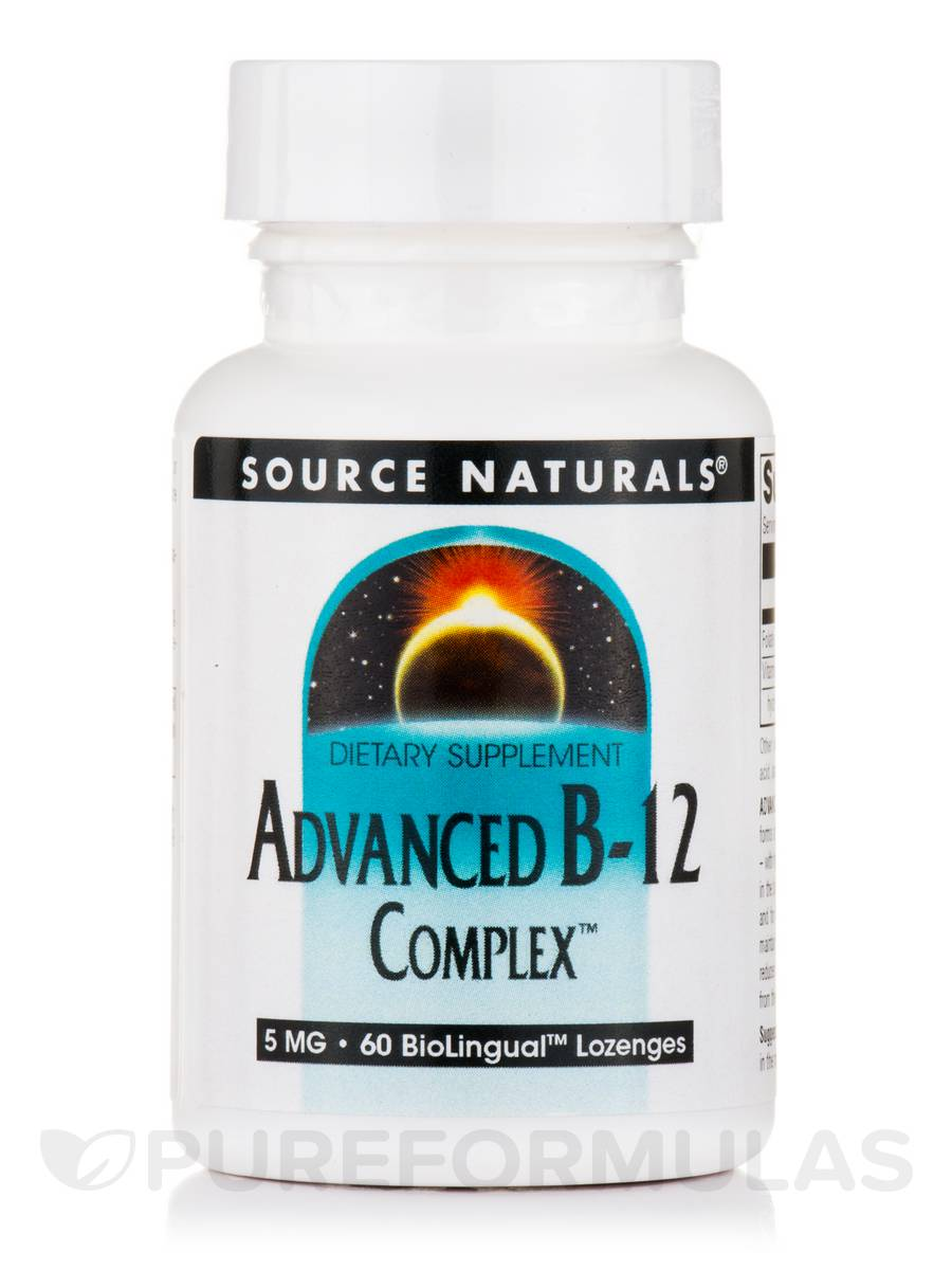 Advanced B12 Complex™ 5 mg, Natural Cherry Flavor - 60 BioLingual™ Lozenges