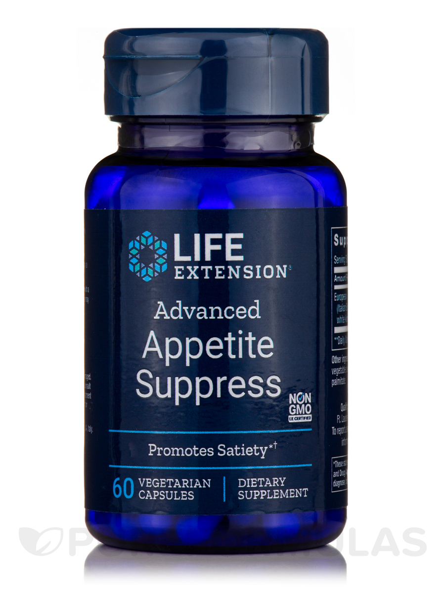 (Advanced) Natural Appetite Suppress - 60 Vegetarian Capsules