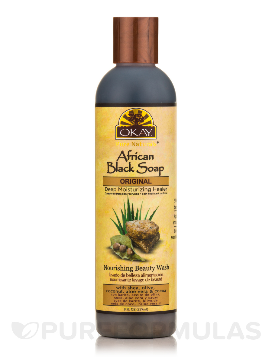 African Black Soap Liquid, Original - 8 fl. oz (237 ml)