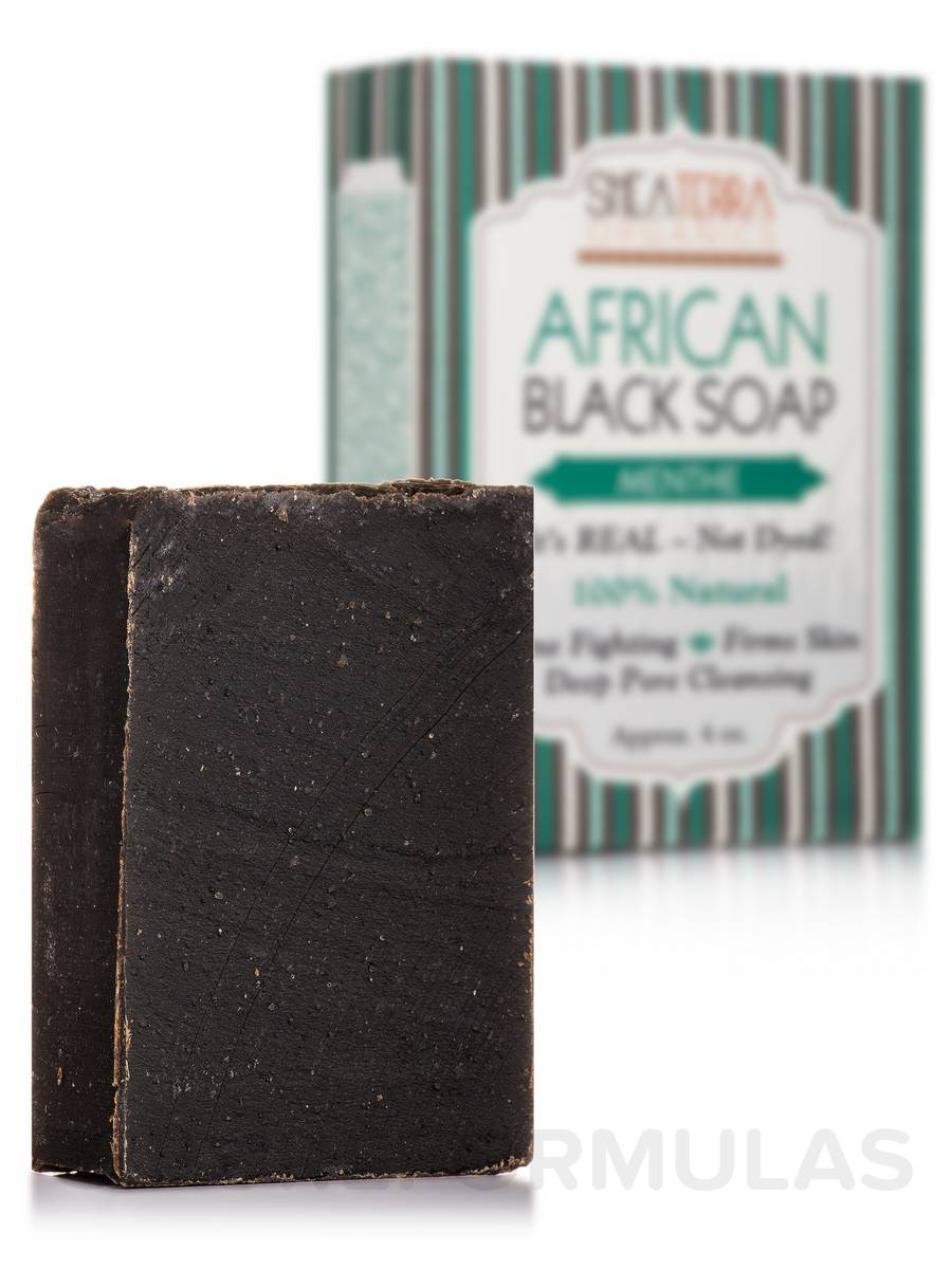 African Black Soap Bath Bar (Menthe) - 4 oz