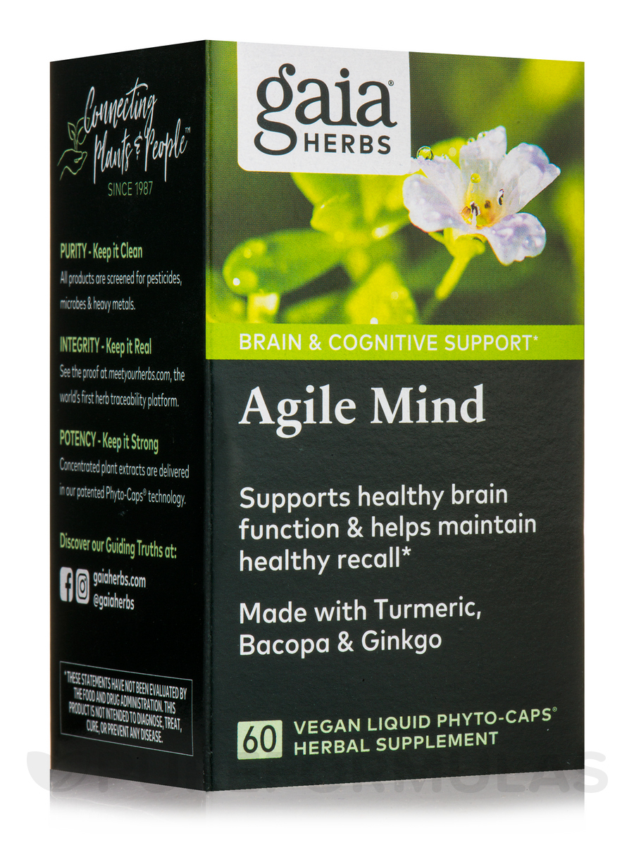 Agile Mind - 60 Vegan Liquid Phyto-Caps®
