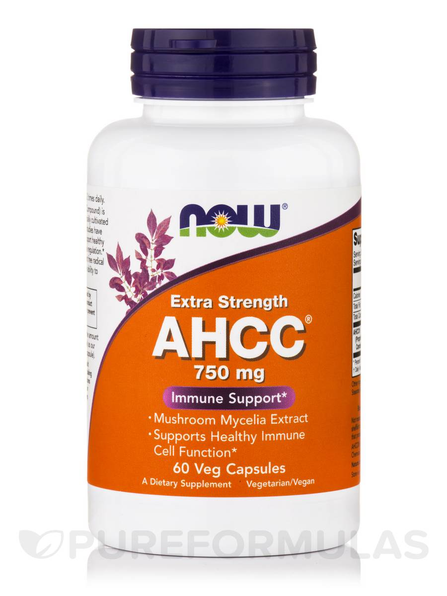 AHCC® Extra Strength 750 mg - 60 Veg Capsules