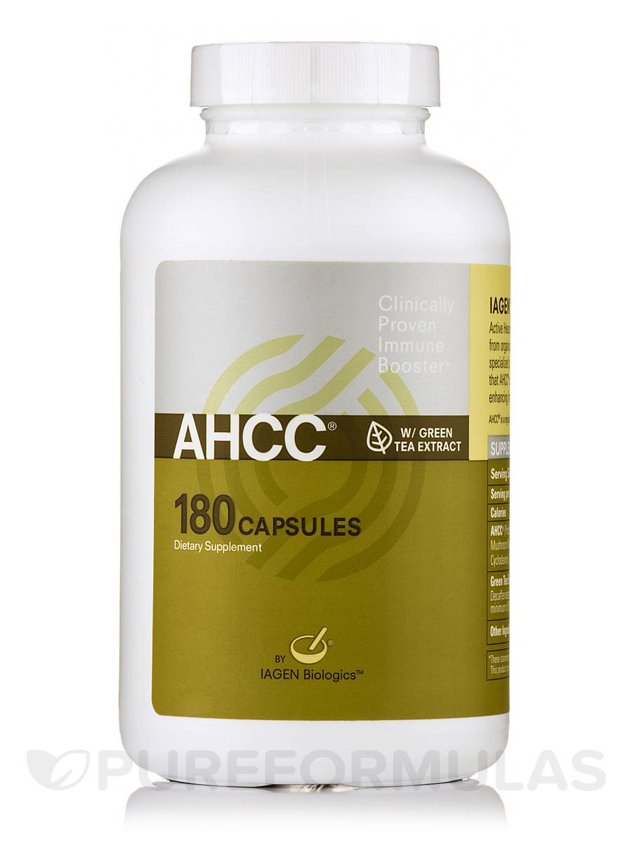 AHCC with Green Tea Extract - 180 Capsules