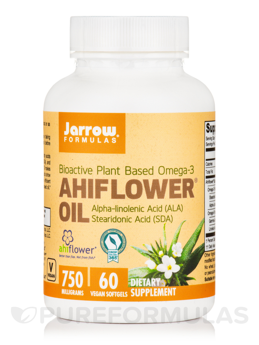 AhiFlower® Oil 750 mg - 60 Vegan Softgels