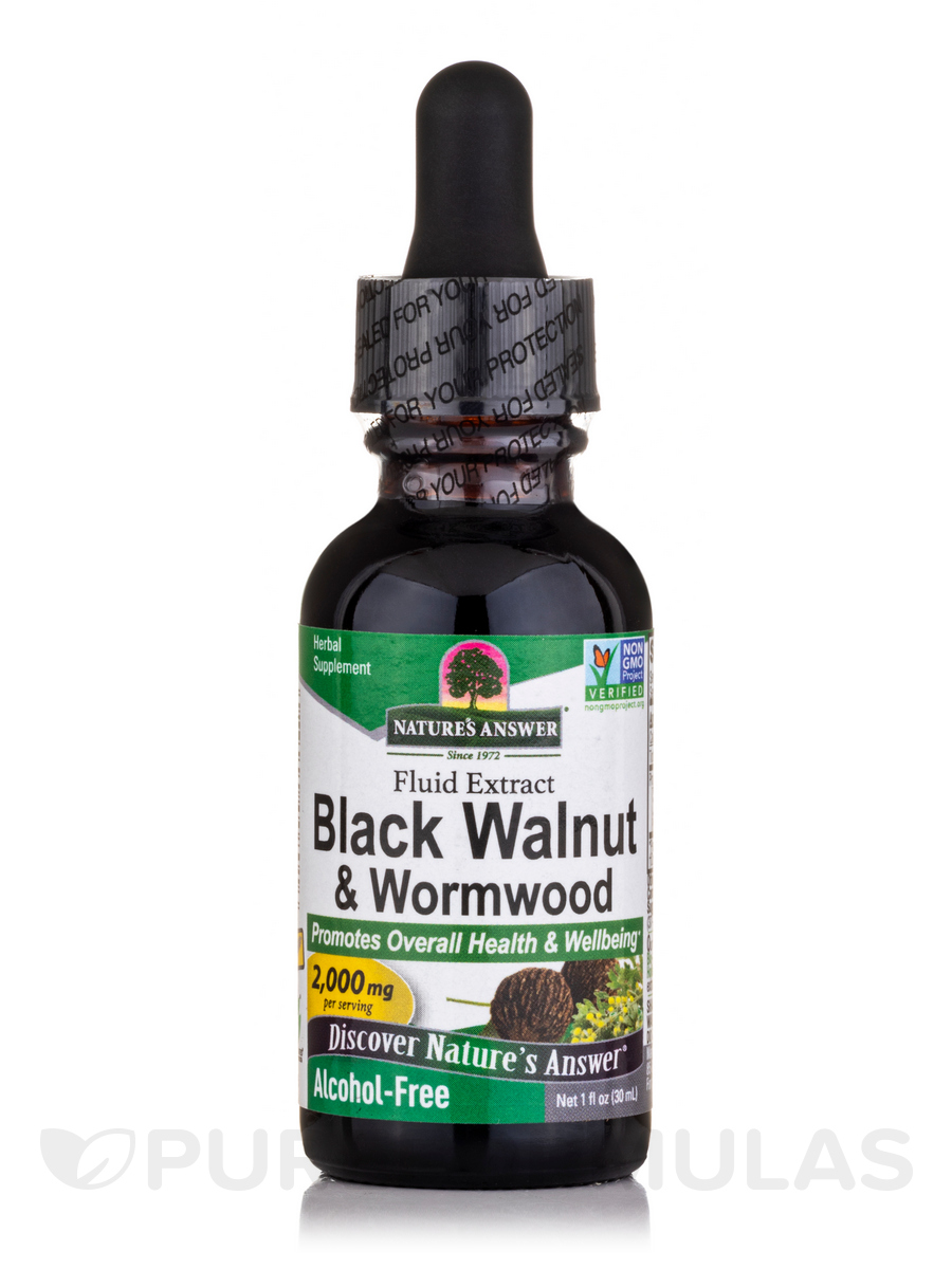 Alcohol-Free Black Walnut & Wormwood Complex - 1 fl. oz (30 ml)